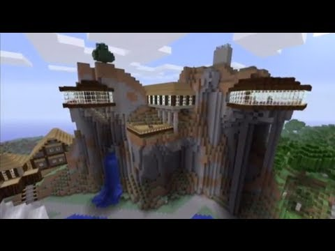 Minecraft how to build down from a cliff