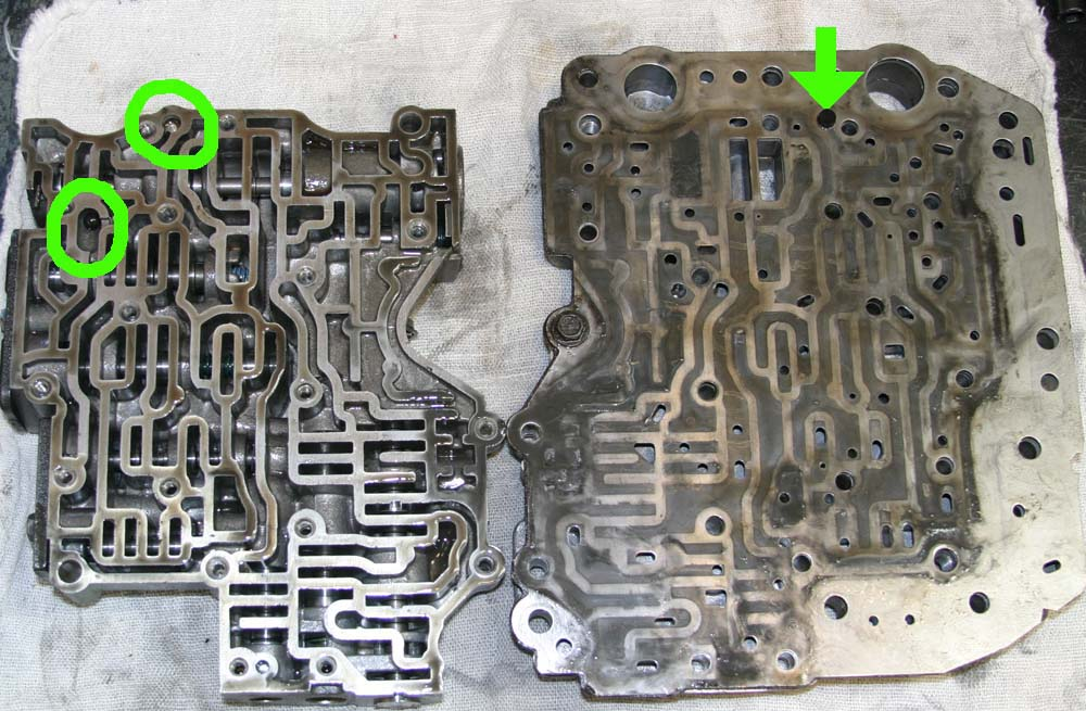 What does a manual valve body do