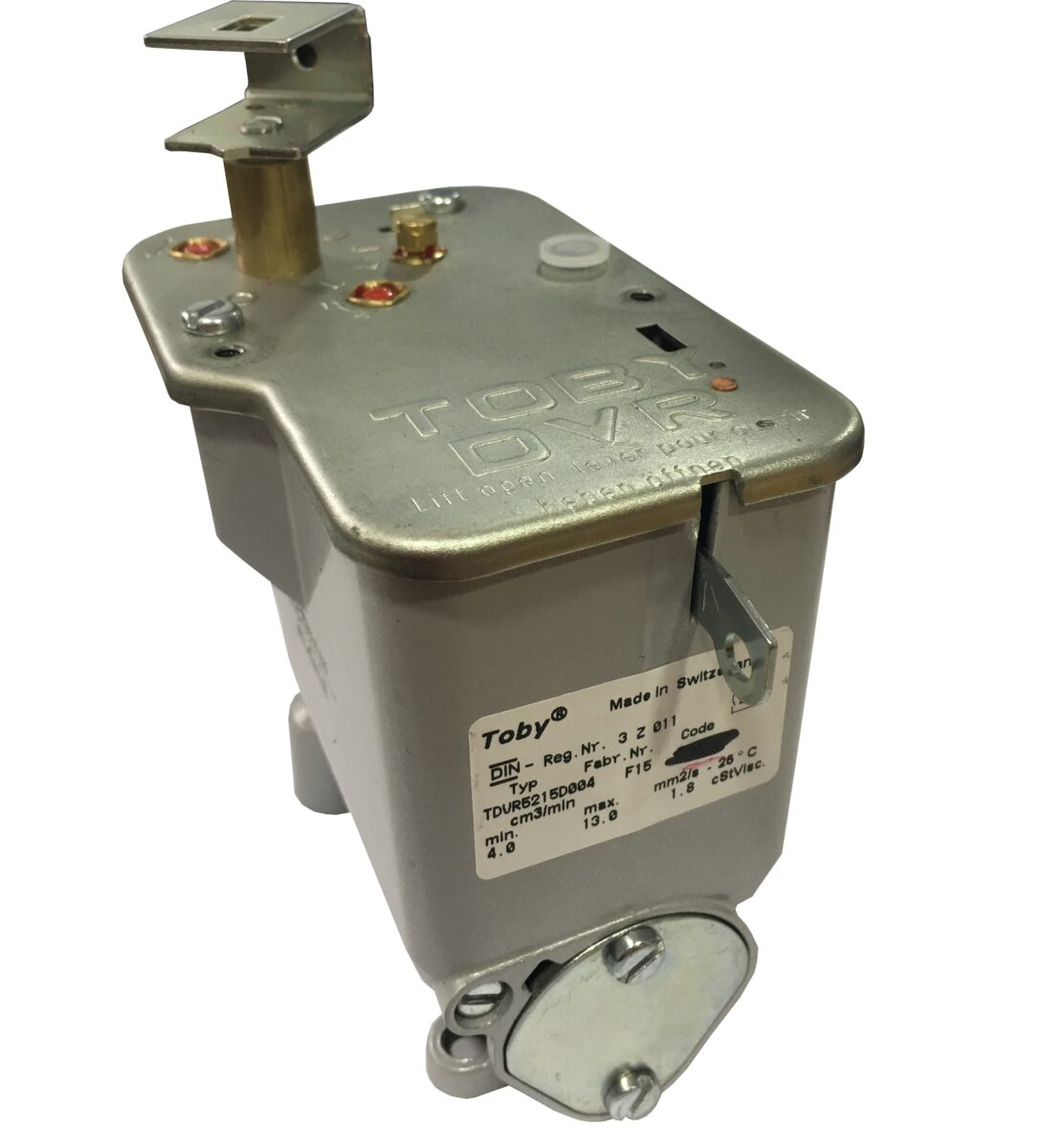 toby oil control valve instructions