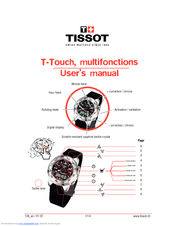 tissot t touch user manual