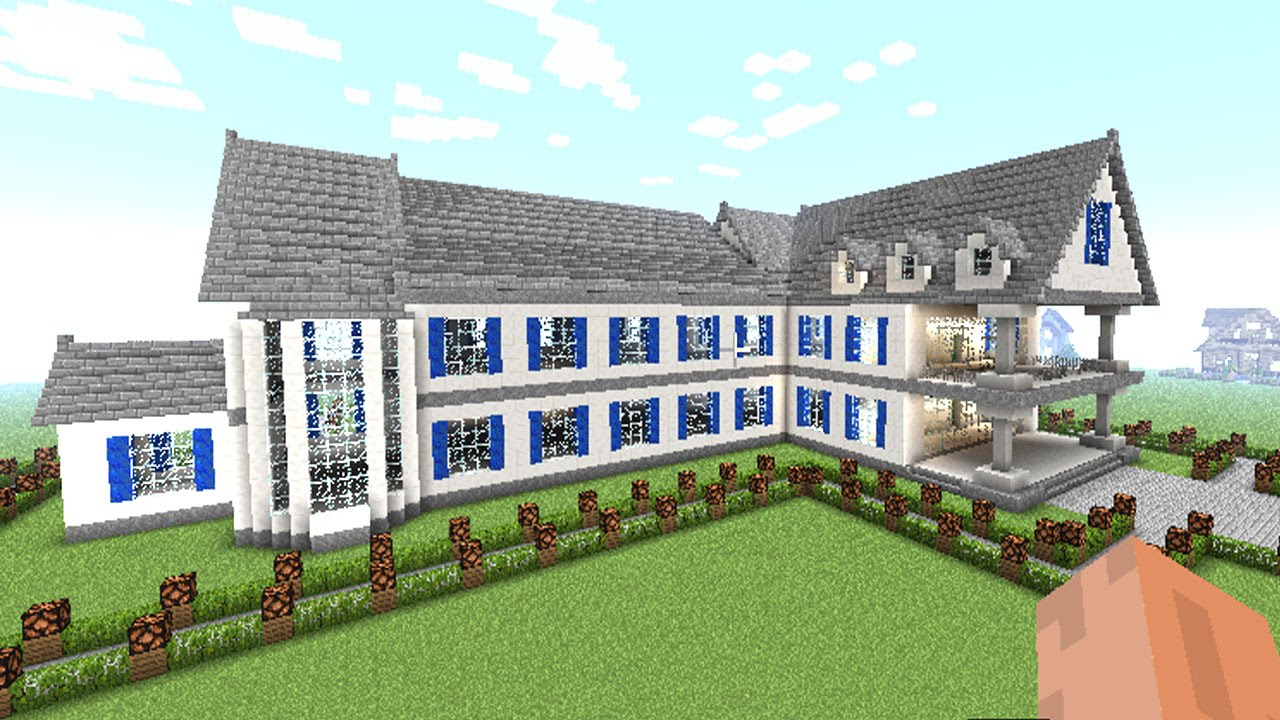 Minecraft how to build a huge mansion