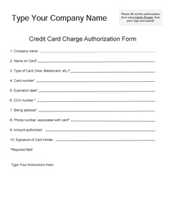 Credit card payment form template australia
