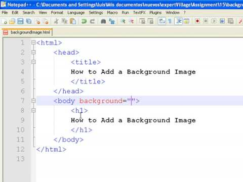 Html how to put background image
