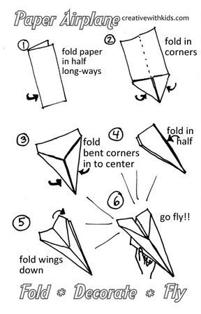 instructions of how to make paper airplanes